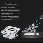 Table Laptop Cooling Laptop Stand Aluminium Alloy Mini Portable DJ Table Desk Laptop Stand Lap Top Cooling Stand For Laptop Height Adjustable Standing Laptop