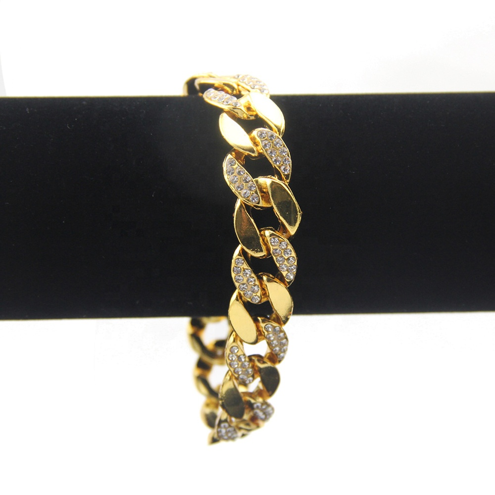 product-BEYALY-Chunky Cubic Zircon Ice Out Wide Cuban Link Chain Gold Plated Necklace-img