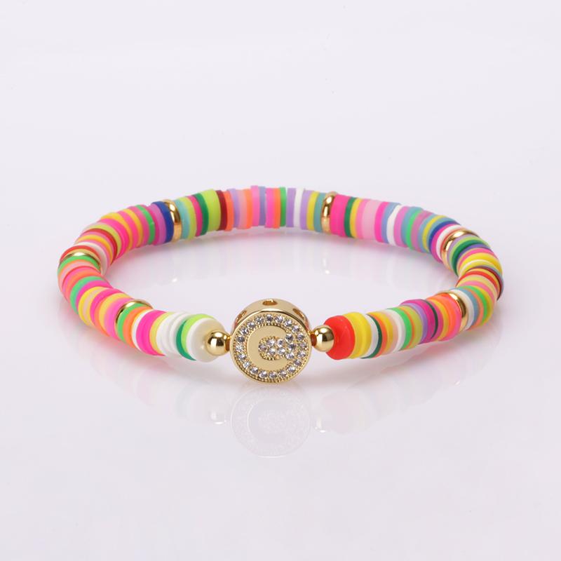 Boho populaire bracelets et breloques bijoux bracelet arc-en-ciel lettre bracelet charmes en vrac femmes fabricants verser femm