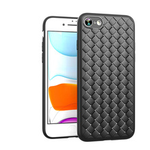 IPhone 7/8/SE2020 telefon fall weben leder muster atmungsaktive soft TPU für iphone 7/8 SE2020 telefon fall