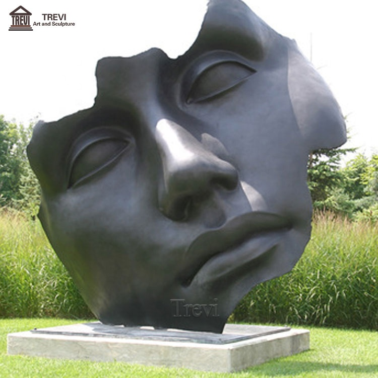 Artwork Outdoor Decorative Abstract Face metal bronze Sculpture