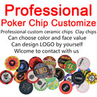 Chip Set Customize Casino White Ceramic Texas Hold's Poker Chip Set With Your Design Logo And Denomination