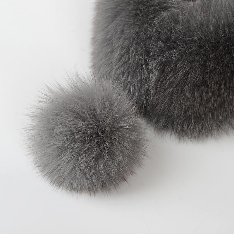 New product 2020 Authentic custom fox fur shawls Upset to keep warm Fur coat collar
