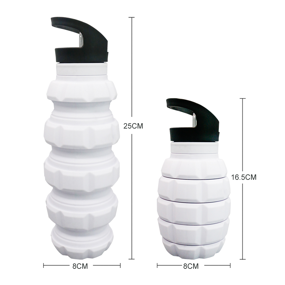 Food Grade Custom Logo Refillable Sport Silicone Water <strong>Bottle</strong>