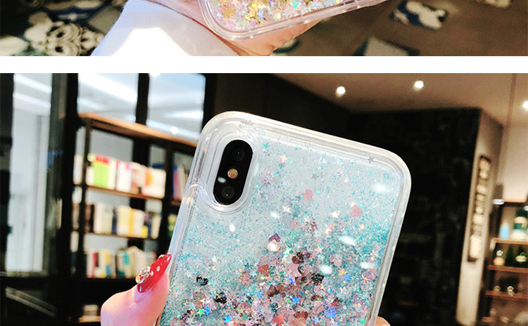 Liquid Quicksand Star Glitter Paillettes Accessori del Telefono Cellulare Caso per il iphone di Apple XS Max XR X 8 Più di 7 6s 6