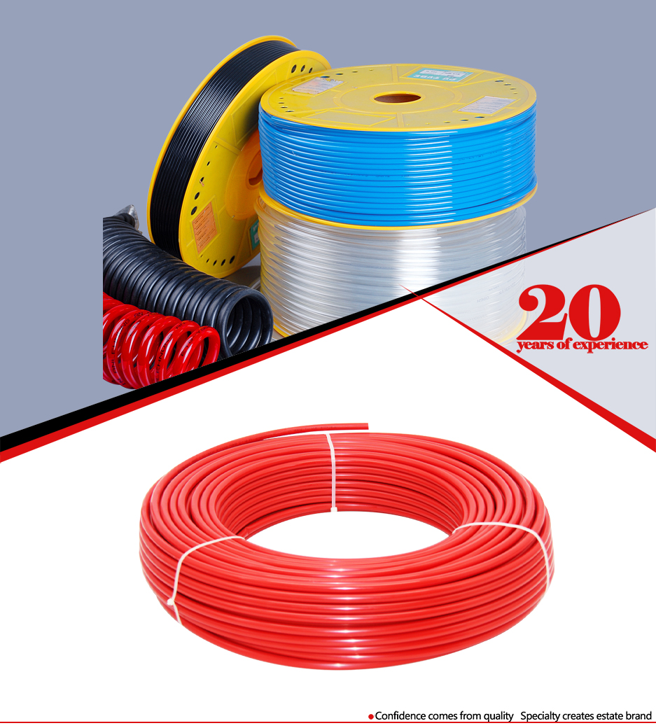 Factory supply 3/8 high pressure double layer nylon dot air brake hose