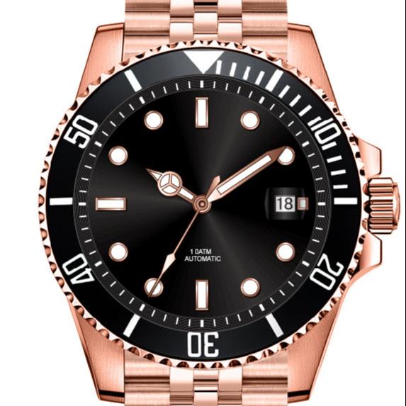 ساعة كوارتز فاخرة مصممة للرجال بشعار مخصص للرجال ساعة كرونوغراف ليكس