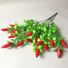 Пластиковый красный перец, искусственные украшения, имитация перца, искусственные овощи, корсаж, фрукты, украшение для дома и сада(Китай)