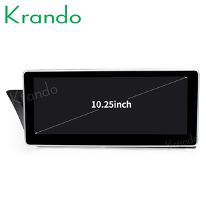 Krando Android 8.1 4+64G 10.25'' for Audi A4 A4L A5 2009-2015 car radio multimedia system gps navigation KD-AD195L