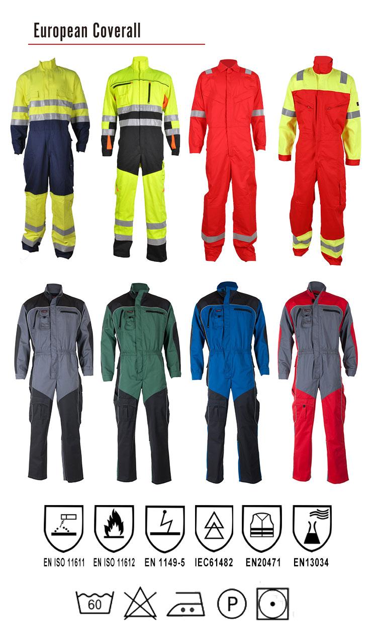Salopette résistante au feu réfléchissante faite sur commande de vêtements de travail pour des hommes