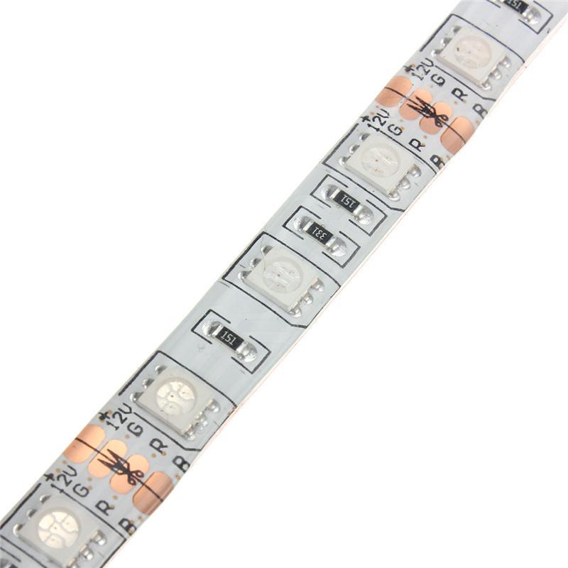 Siêu Sáng 0.5 M/1 M/1.5 M/2 M RGB 5050 SMD 16 Màu Sắc LED Strip máy Tính PC Chassis Đèn Với 24 Phím Điều Khiển Từ Xa 12V