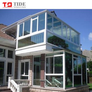 Calidad Estupenda Y Precio Competitivo Terraza De Madera De Aluminio Revestido De Casa De Vidrio Para Jardín Buy Puertas Y Ventanas