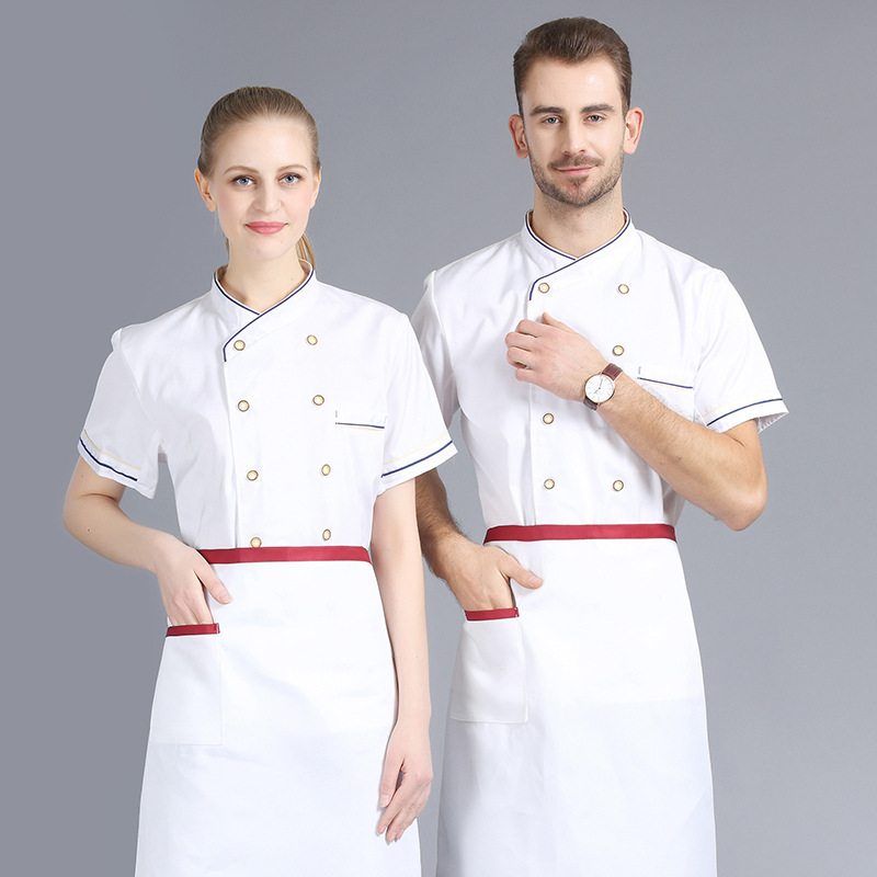 Hot sell customized summer breathable fast dry hotel chef uniforms
