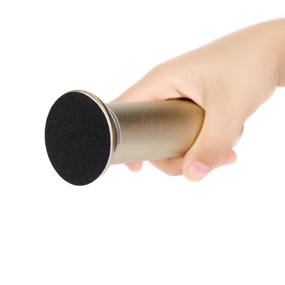 HYTOOS 1Set Electric Foot File Callus Remover Kit 60Pcs Sandpaper Discs Pro Manicure Machine Drills Cuticle Pedicure Tools