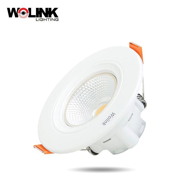 Energy saving Flush mounted indoor cob 3w ip20 round abs led down light