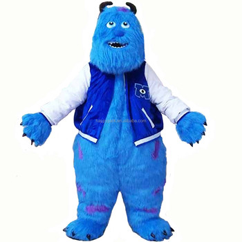 New Arrival fancy dress high quality long plush monster mascot costumes adult sully costume mascot costumes