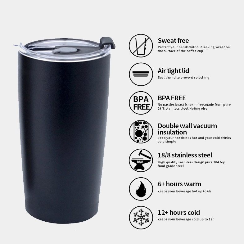 20oz Wholesale Double Wall Vacuum Coffee Travel Insulated Stainless Steel Tumbler Cup