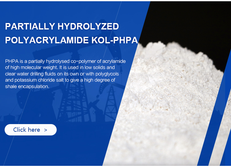 oilfield chemicals phpa drilling mud additive anionic polyacrylamide