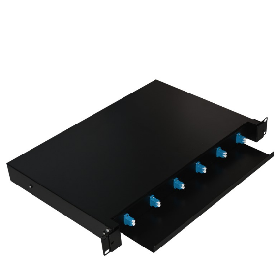 High-quality 12-port Cat6 UTP Fiber Optic Patch Panel
