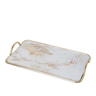 Beautiful design metal square serving decorative tray