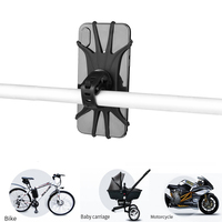 Bike Scooter Phone Holder 360 rotation Silicone Bicycle Phone Holder universal Motorcycle Handlebar Mount Fits for iPhone XR XS
