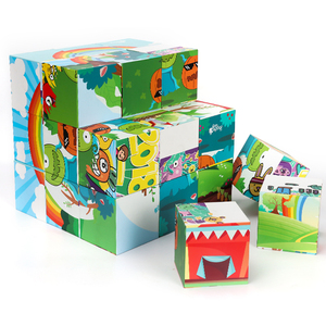 Customized Paper Magnetic Magic Cube Puzzle DIY Intelligence Toy