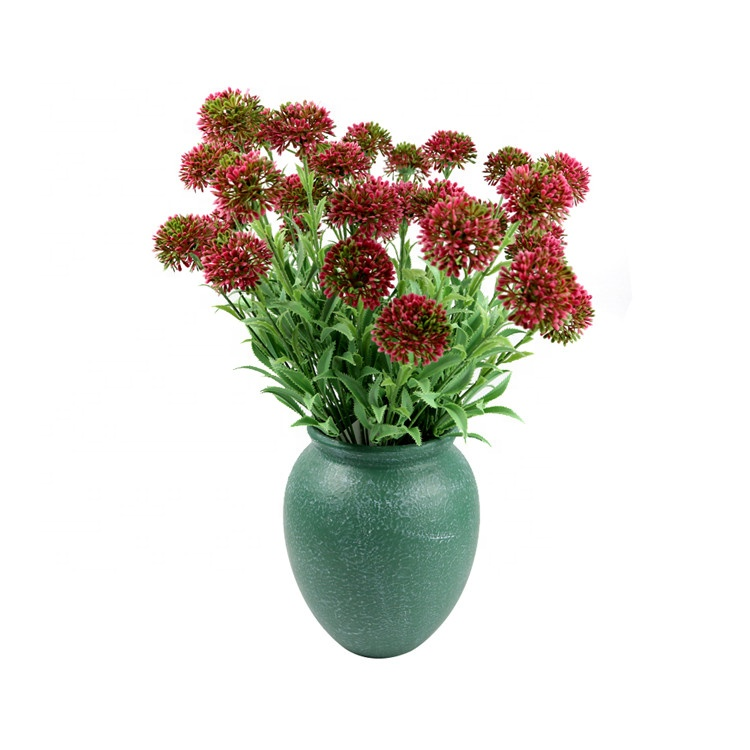 Plastic Green Lilac Artificial Bouquet Flowers Environmental Protection With High Quality