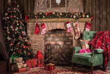Фоны для фотосессии с рождественским камином, фотостудия, новогодние праздничные фото реквизиты(Китай)