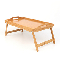Bamboo Laptop Bed Table Breakfast Bed Tray Serving Tray