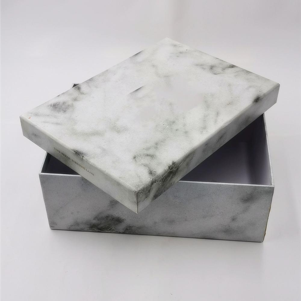 Custom and fashion hot sale luxury marble gift box for clothing