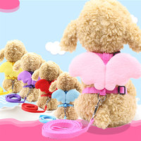 Pet traction rope with angel chest back rope wings cartoon doll new dog traction cat traction I-shape