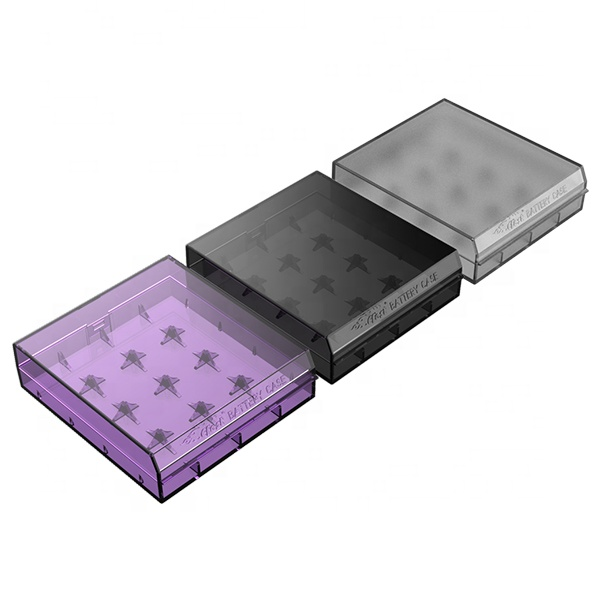 Portable Colorful Battery Case Plastic Efest H4 18650 battery holder
