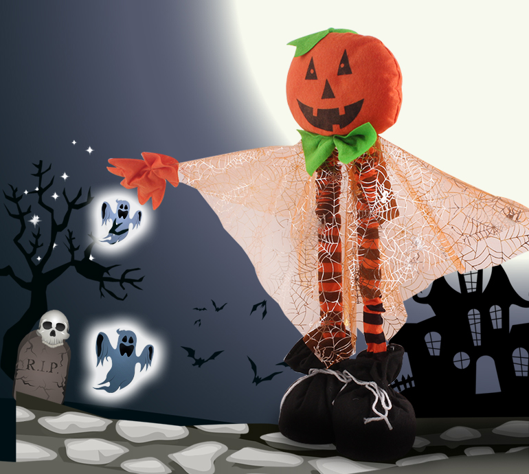 Creative gifts magic party cheap decoration devils  pumpkin kids halloween toys