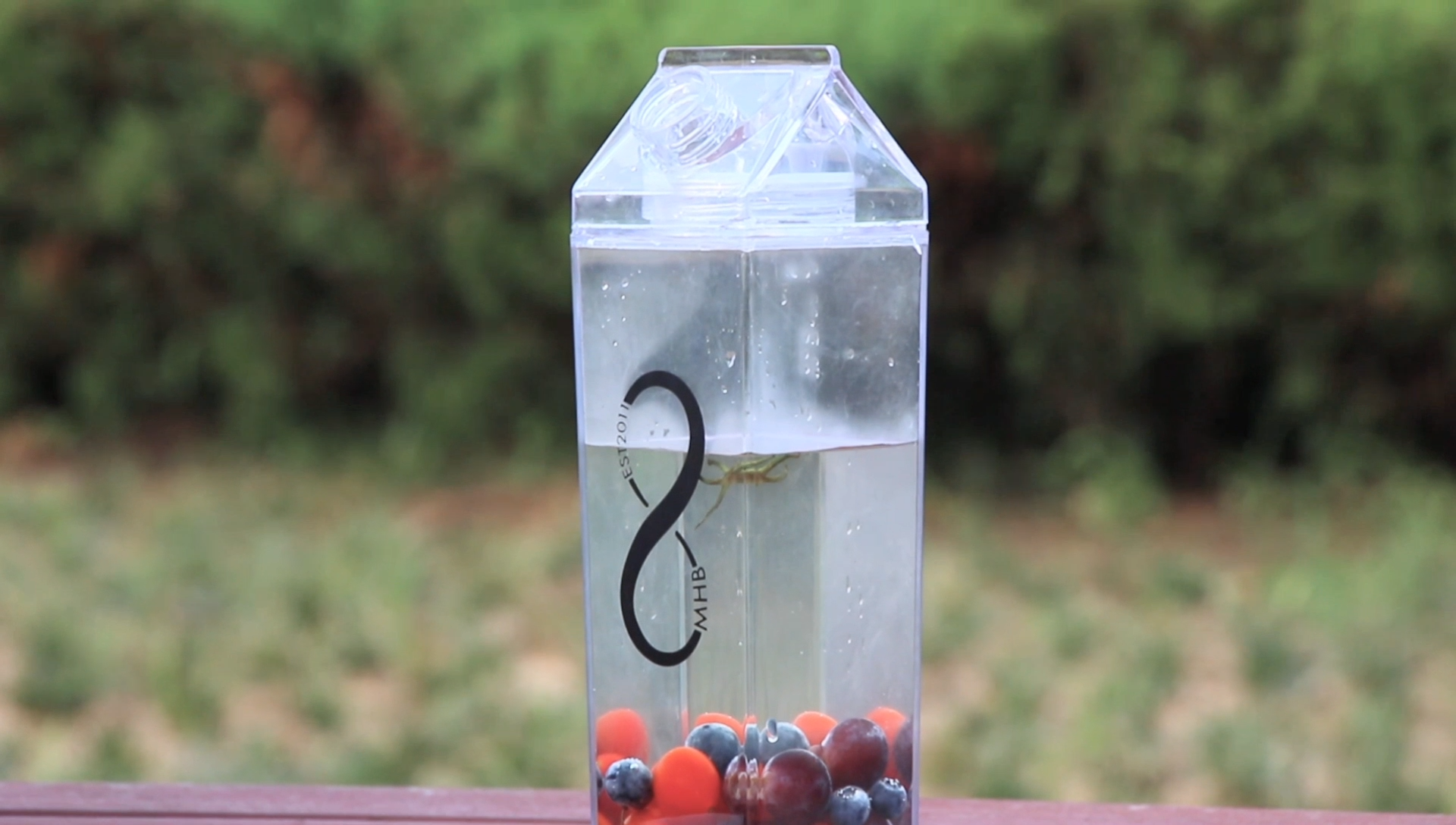 Clear Plastic Fruit Juice Milk Carton Water Bottles With Lids Wholesale