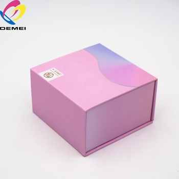 Customized Pink Magnetic Paper Watch Packaging Box