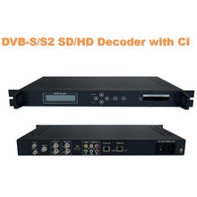 DVB-S/S2 HD Decoder (DVB-S/S2 + <span class=keywords><strong>ASI</strong></span> + IP + 2 * CI in, AV + HD + SDI (1080i/720 p/576i) + YPbPr + IP + <span class=keywords><strong>ASI</strong></span> out)