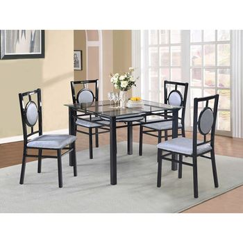 Sell Best Dining Room Furniture Chinese Style Square Glass Table Top Fabric Cushion Dining Table Ande Chair