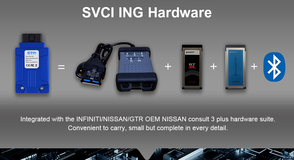 Original SVCI ING for Infiniti/ for Nissan/ for GTR Professional Diagnostic Tool Support Programming Update Version