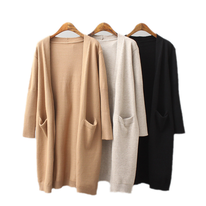 High Quality Fashion Women Pocket <strong>Cardigans</strong> for Ladies Knit <strong>Long</strong> <strong>Cardigan</strong> Sweater