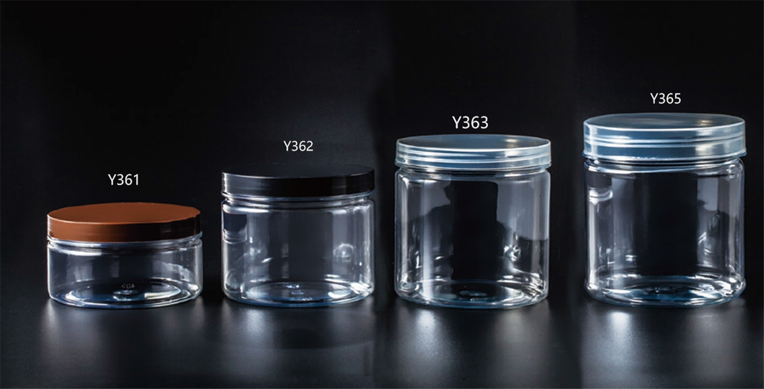 200ml 300ml 400ml 500ml 600ml 700Empty Clear Plastic Pet Jar With Lid For Food