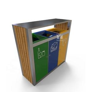 China online selling plastic dustbin industrial garbage recycle sort bin