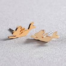 Женские серьги-пусеты в виде летящей Ласточки Todorova, серьги-гвоздики из нержавеющей стали, модные аксессуары для женщин(Китай)