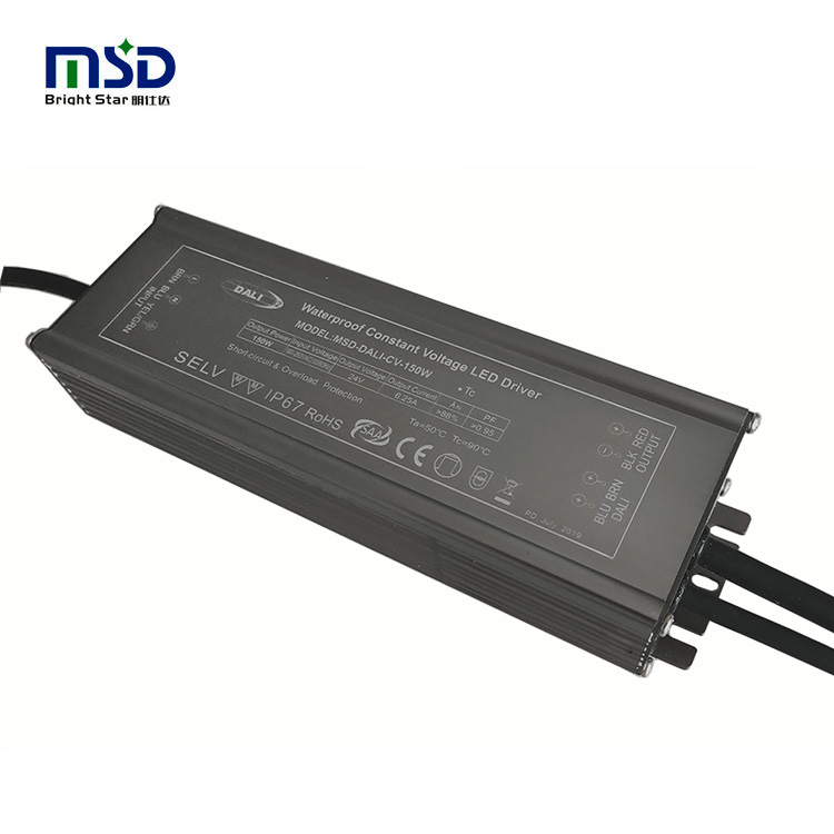 DALI CV 100W QC ISO IEC 62386 <strong>V1</strong> and V2 addressable outdoor waterproof street light dali dimmer led driver switch power supply