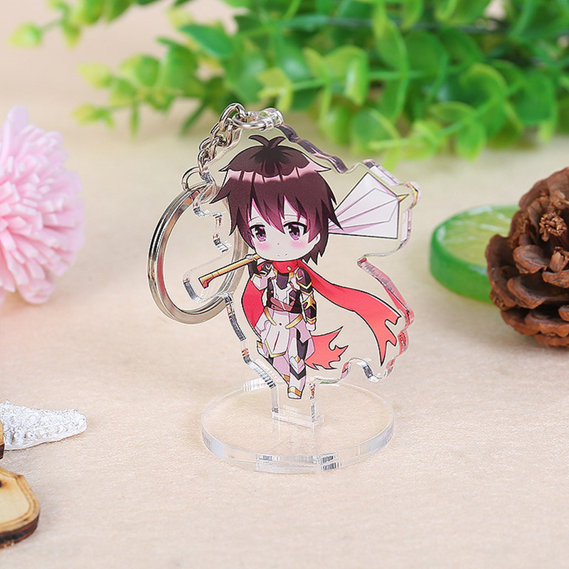 Wholesale Promotional Custom Anime Acrylic Keychains Clear Mini Keychain Double Sides Printed