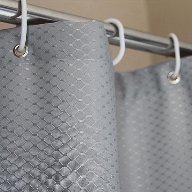 Hotel Quality Waffle Weave Shower curtain Mildew Free Water Resistant Bathroom Curtain custom shower curtain 36x72inch