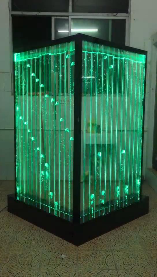 מטלטלין Led אקריליק בועת מים קיר 90 תואר שחבור מרחוק בקרת רב צבעוני Led אור וחוצצי חדר