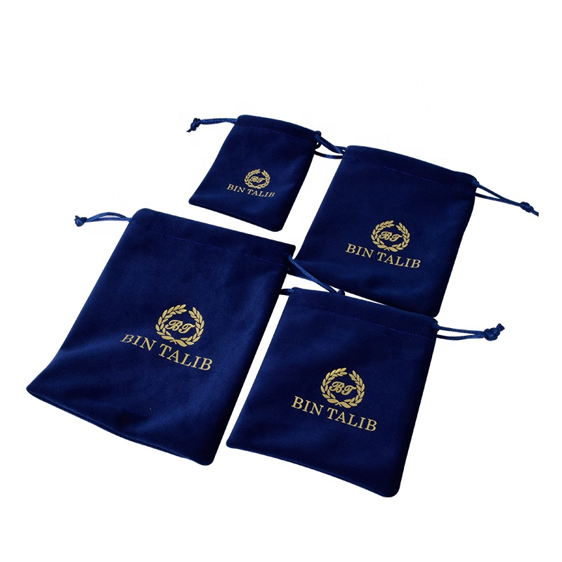 Takı kadife zarf saklama torbaları Snap düğmesi pazen sahte süet toz geçirmez kılıfı hediye paketleme düğün için