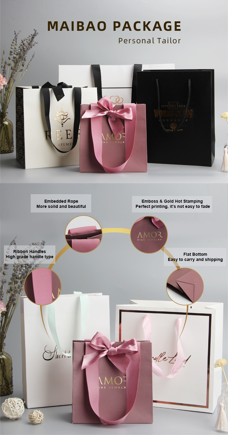 Customizable Big Medium Small Size Commercial Decoration Handmade Designs Rose Gold Pink Gift Shopping Paper Bag For Jewelry Buy Jewelry Paper Bag Jewelry Gift Bag Handmade Paper Bag Product On Alibaba Com
