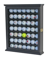 Amazon Hot Selling 49 Golf Ball Display Case Cabinet Wall Rack Holder w/98% UV Protection Lockable 3 color Available