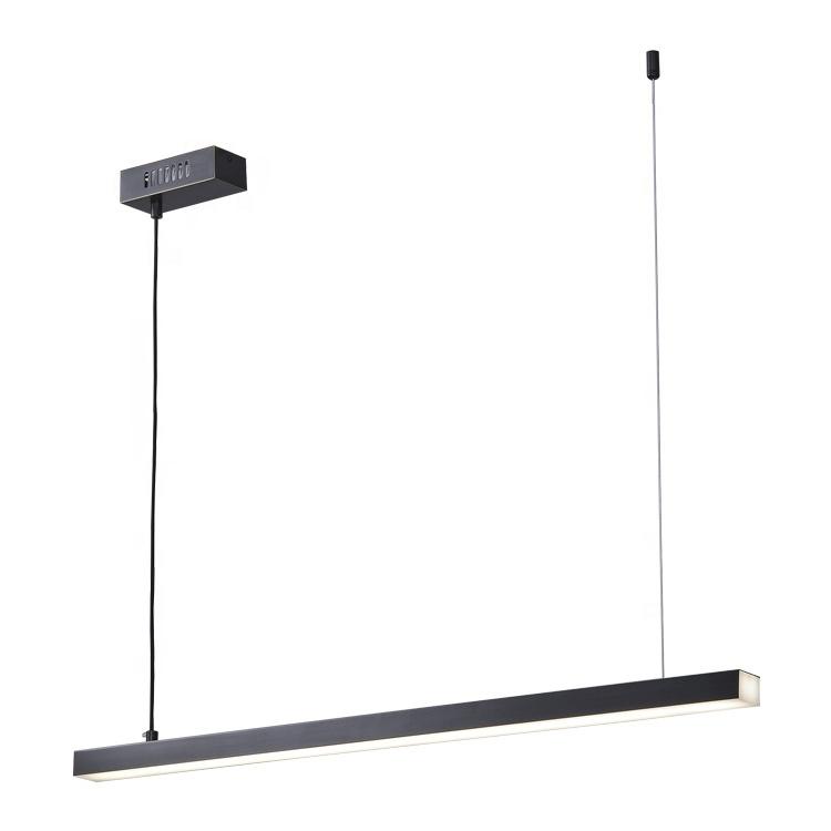 Black metal copper acrylic lampshade unique led single modern linear pendant led lighting